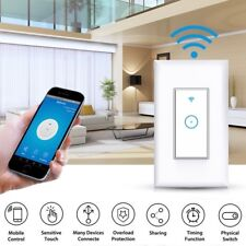 Smart Wifi Dimmer Light Wall Switch Touch Remote Control For Alexa Google Home