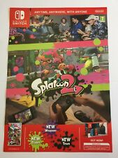Splatoon 2 Double Sided Poster. *NEW*