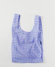 BAGGU CORNFLOWER GINGHAM Standard Size Reusable Bag - NWT - Discontinued Pattern