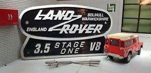 Land Rover Defender Series 3 Stage One 3.5 V8 Cast Tub Station Wagon Badge 110