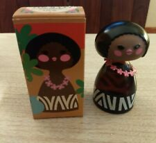 Vintage Avon Small World Cologne Island Hula Girl in Box with Lei Full Bottle