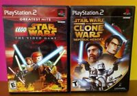 Lego Star Wars + Republic Heroes Clone Wars - PS2 Playstation 2 Tested Game Lot