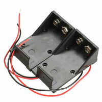 9V Volt Black Battery Clip Holder Box Case Cover with Lead Cable Wire Wire L0A7