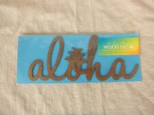 Wood Sticker Aloha/Handmade In Hawaii/Shop Toast/Sign/Decoration/Culture/New
