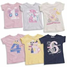 Girls' Graphic Cotton Blend Crew Neck T-Shirts, Top & Shirts (2-16 Years)