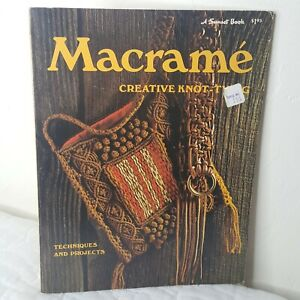 VTG 1974 Macrame Creative Knot Tying Sunset Book 80 Pages Techniques Projects