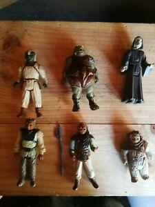 6 Figurines Star Wars Vintage + 1 taun-taun