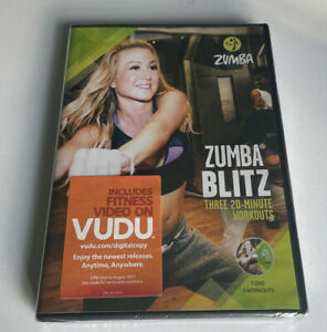 Zumba Blitz [NEW] DVD Three 20 Minute Workouts Charge Power Up Bursts Cardio