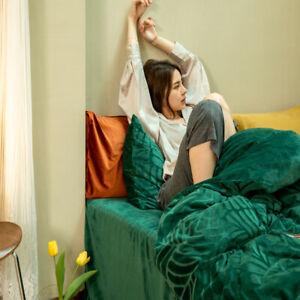 4pcs Bedding Set Super warm soft Velvet Duvet cover flat sheet 2 pillow shames