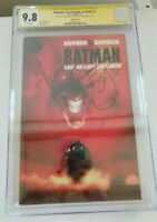 Batman Last Knight on Earth #1 CGC SS 9.8 - 3x Sigs- Scott Snyder, Capullo, Jock