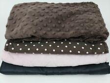 (4) Baby Girls Diaper Changing Pad & Covers Lot Soft Carters Newborn Fleece Mink