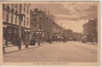 Vintage RP Postcard CANADA St. Paul Street, St. Catherines, Ontario  *Free Ship*