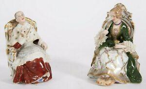"Antique Capodimonte Ginori Porcelain Figurine Couple, 5"" high."