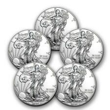 2020 1 oz American Silver Eagle Bu - Lot of 5 Coins $1 Us Mint Silver