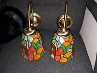 Pair Of tiffany  Style Wall Lights