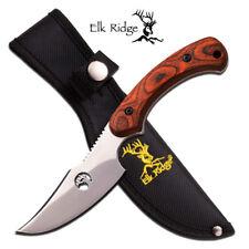 ELK RIDGE TA-28WD WOOD HANDLE HUNTING/SKINNING KNIFE FULL TANG - NEW