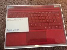 Microsoft Surface Pro 3, Pro 4 Type Cover, ROT, Neu, QWERTZ