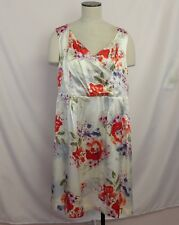 Pendleton Petite Dress Sz 16P Cream Floral Print NEW 100% Silk Sleeveless