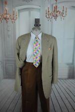 Hart Schaffner & Marx Men's Gray Tan & Brown Plaid Sportcoat Blazer 40L 40 L
