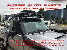 Steel Roof Rack Spare Tyre Holder for Toyota Landcruiser 75 79 Series UTE Racks