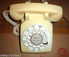1972 Glocke 500 Vintage Sammlerstück Antik Drehbar Telefon Beige/Weiß