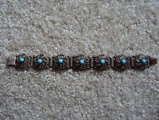 BRACELET pierres  bleues turquoise TIBET