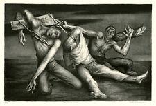 BENTON SPRUANCE, 'SOUVENIR OF LIDICE', signed lithograph, 1943.