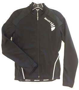 Women's Monella Cycling Windproof Jacket in Black- Made in Italy by Santini