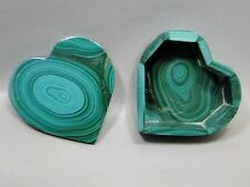Malachite Heart Shaped Box Stone 2.25 inch Gemstone Small Trinket Treasure #10
