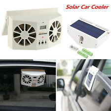 Ivory Solar Powered Auto Car Window Ventilator Cooler Air Vent Cool Fan Radiator