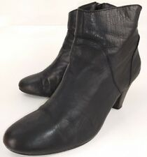 Steve Madden Womens Boots Ankle PROCESS US 8 Black Leather Zip Heels 744