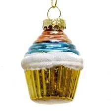 Gisela Graham - Yellow Cup Cake Bauble - Christmas Decoration - 00013