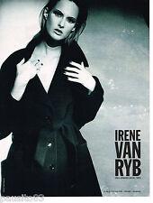 PUBLICITE ADVERTISING 065  1997  IRENE VAN RYB   haute couture manteau
