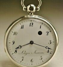 Ancienne montre gousset coq 1800 ANTIQUE FUSEE POCKET WATCH