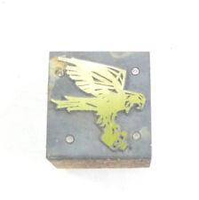 Vintage Letterpress Printing Block - Stylised Falcon Bird Of Prey 25mm