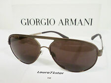 Armani 2004 Metal Bronze Bronzo Aviator Sunglasses Occhiali Sole New Original