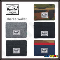 HERSCHEL Men's RFID Charlie Wallet Compact Slim 4 Card Slots GENUINE 10360