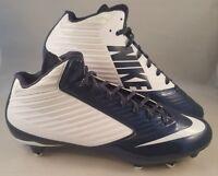 Nike Vapor Speed 3/4 D Football Cleats Men's Size 12.5 White Navy Blue 645729