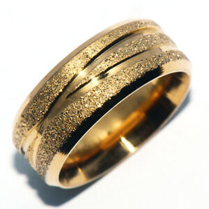 Carved Dusty Mens Womens Jewelry Gold Filled Band Ring Fashion Rings Jewellery 8