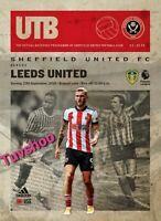 Sheffield United v Leeds United PREMIER LEAGUE Programme 26/9/20! PRE-ORDER!!!
