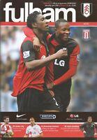 Football Programme - Fulham v Stoke City - Premiership - 25/4/2009