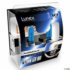 2x H7 Lunex PLATINUM BLUE 12V 55W Car Headlight Halogen Bulbs PX26d 4700K