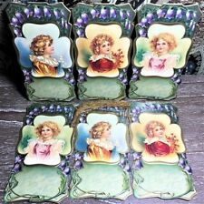 6 Victorian Girl Bookmarks Book Gifters Use as Christmas Gift Tags! Shackman