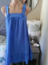 zimmermann electric blue silk designer dress size 1