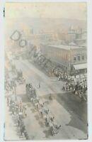 RPPC Size Real Photo RINGLING BROTHERS CIRCUS Wagons Parade MISSOULA MT Montana