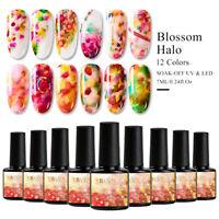 12Colors UV Gel Nail Polish Soak off Blossom Flower Varnish Manicure RBAN NAIL