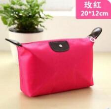 2018 Women cosmetic bag lady canvas storage Rose Red purse handbag wallet