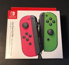 Official Nintendo Switch Joy-Con [ Neon PINK / GREEN / Splatoon 2 Edition ] NEW