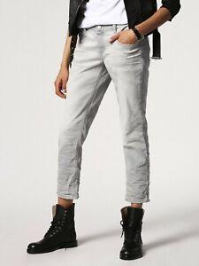 Diesel Belthy Ankle Womens Regular Slim 084HS Stretch Jeans Light Grey W28 L32