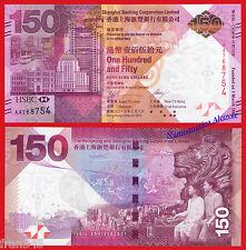 HONG KONG HSBC 150 Dollars dolares 2015 COMMEMORATIVE Pick NEW FOLDER  SC /  UNC